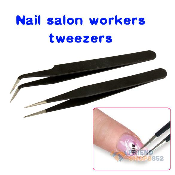 #F9s Lot of 2 pcs Acrylic Gel Nail Art Rhinestones Paillette Nipper Picking Tool Black  Free Shipping(China (Mainland))