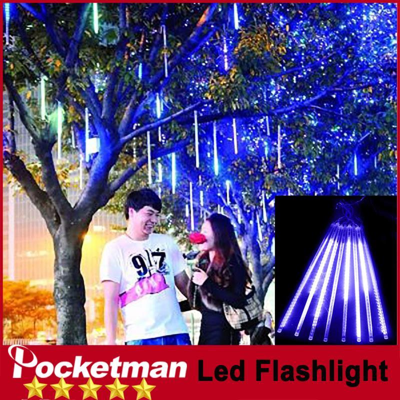 zk88 Meteor Shower Rain Tubes 50cm Christmas Lights Led Lamp 100-240V Outdoor Holiday Light New Year Decoration 8pcs/set(China (Mainland))