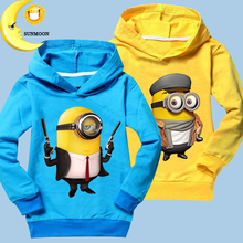 2016 new hot children hoodies despicable me minion winter coat kids long sleeve casual costume baby boy girl clothing(China (Mainland))