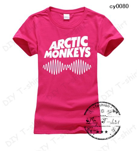 New Fashion 2015 arctic monkeys Summer must-have t shirt Clubs must 17 color 4 sizes is optional women Necessary trend(China (Mainland))