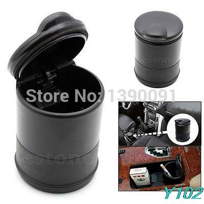 Y102 Portable Car Auto Travel Smoke Cigarette Ashtray Holder Cup Stand Buckets Butt