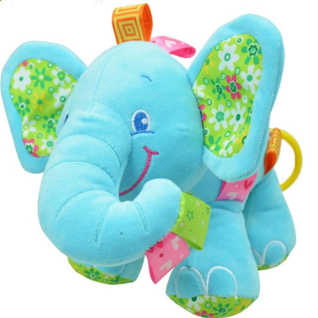 Новый Животных Слон в розовые Мягкие Плюшевые Кроватки Кровать Автомобилей Висит Руки Погремушки Детские Игрушки Девочка Мальчик Подарочные Игрушки