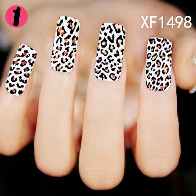 New Fashion Water Transfer Dark Leopard Decal Women Stickers Nail Art Acrylic Manicure Tips DIY Sell Hotting<br><br>Aliexpress
