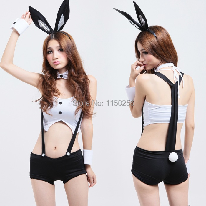 Novelty & Special Lady's Dress Sexy Slim Rabbit Bunny Costumes Christmas New Year Uniform(China (Mainland))