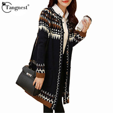 Long Knitted Cardigan Women 2016 Autumn Winter Knitwear Vintage Retro Style Long Sleeve Sweater Coat Feminino WZL646(China (Mainland))