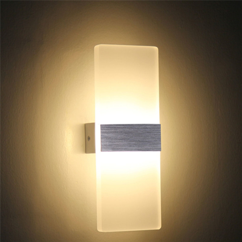 7W Modern LED Wall Lamp Wall Light Sconce Bathroom High Quality Aluminum Case Acrylic Crystal Bedside Lamp Bedroom Living Room(China (Mainland))