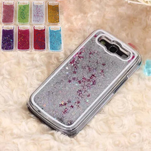 S3 Transparent Dynamic Liquid Water Glitter Paillette Sand Quicksand Star Cover Case for Samsung GALAXY S3 SIII i9300 Phone case(China (Mainland))