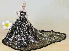 Top! Doll Dress Sexual Long Tail's Evening Gown Purely Manual Clothes Lace Wedding Dress for Barbie Dolls with Cute Wings(China (Mainland))