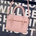 Embossing Bag 2016 New Fashion All match Handbag Flap Magnetic Button Bag Women Desiger Simple Shoulder