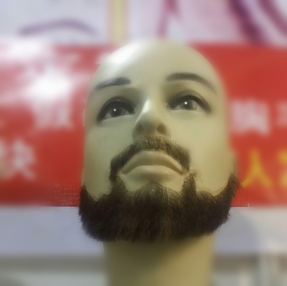Factory hot sell  man false whiskers, invisible false invisible mustache and full beard for costume.<br><br>Aliexpress