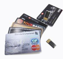 Real capacity New Waterproof Real 4GB/8GB/16GB/32GB/64GB Bank Credit Card Shape USB Flash Drive Thumb Pen Drive Memory Stick(China (Mainland))