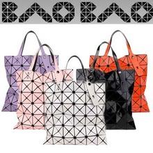 Mit Logo Frauen Mode BAOBAO Tasche Geometrie Handtasche Pailletten Laser Einfachen Klapp taschen handtaschen frauen berühmte marken 6*6(China (Mainland))