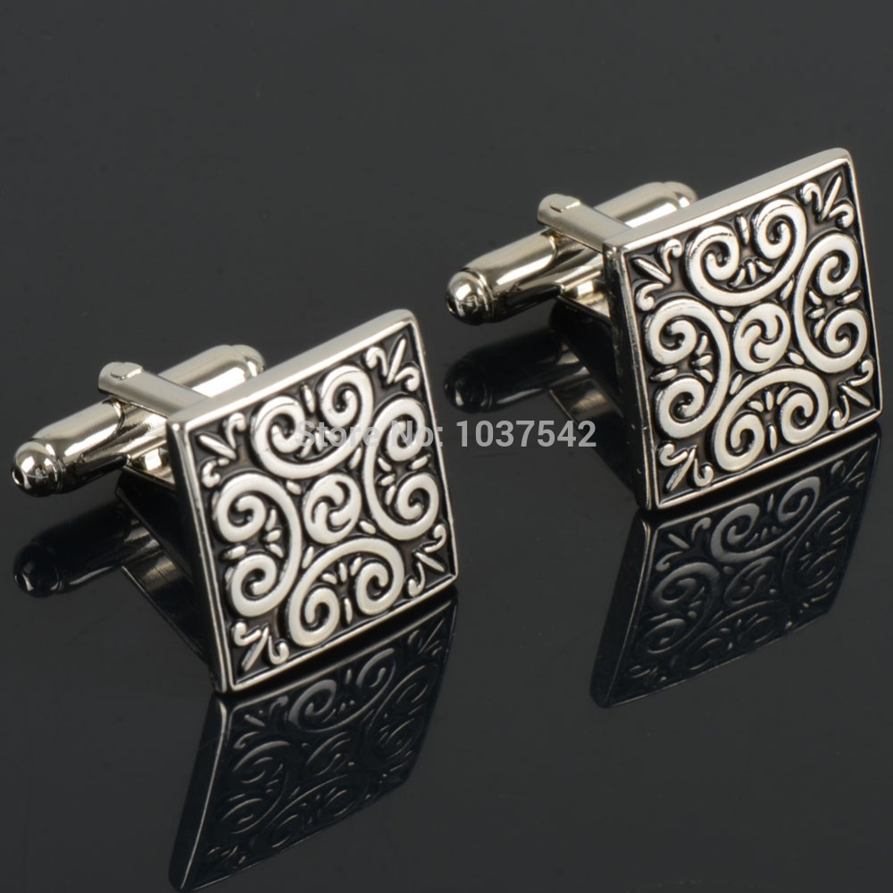 A16 Hot!!! New high quality Vintage Wave Pattern Cuff Link Retro Exquisite Men's Sleeve Nail hot style free shipping IA943 P(China (Mainland))