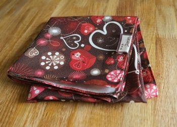 Годива узел обертывание Furoshiki любовь в форме сердца декор стол ноутбук лист гобелен новый
