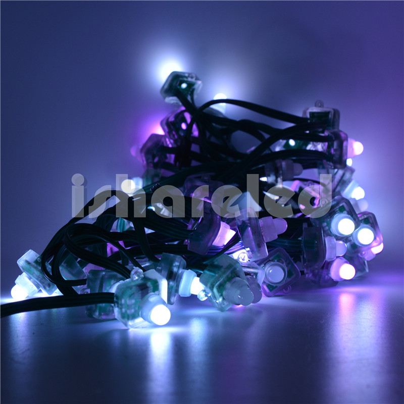 50Pcs DC5V 8mm T1515 RGB Pixel LED Module String Light Addressable IP20(China (Mainland))