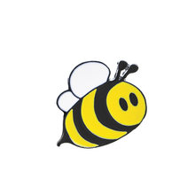 Gioielli di moda Spille Cute Cartoon Bee Insetto Mosca Spilla Bambini Vestiti Delle Ragazze Accessori Nero Giallo Dello Smalto Spille Gioielli Regalo di Compleanno(China)