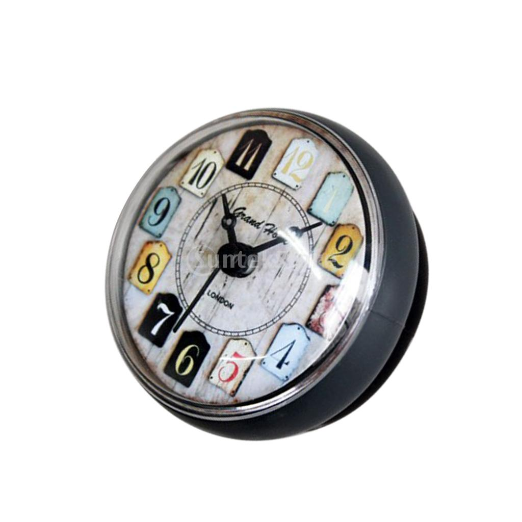 Suction Cup Wall Clock Timer Kitchen Bathroom Shower Silicone Clock Waterproof 80mm