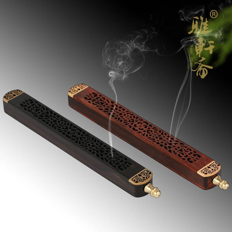 Calamander wool cutout incense furnace lying incense santalwood line incense burner hong board perfume pomades incense holder(China (Mainland))