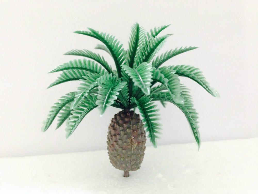 Ho масштаб миниатюрной архитектуры пластиковой пальмой 4см миниатюрная модель деревья, море, пейзаж