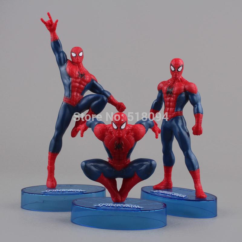 Marvel Spider-man Spdeiman PVC Action Figure Collection Model Toys 3pcs/set