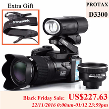 PROTAX 16MP D3300 Digital Cameras professional Cameras HD Camcorders DSLR Cameras Wide Angle 21x Telephoto Lens Camara Digital(China (Mainland))