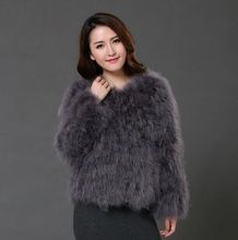 10 colors 2016 fashion sexy Ostrich wool turkey fur  wool coat feather fur short jacket(China (Mainland))