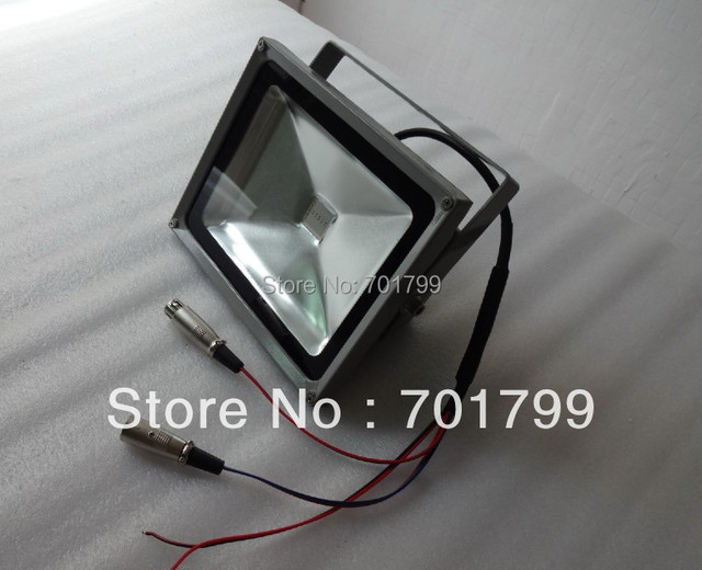 DC24V input 30W RGB DMX LED flood light;IP66;high quality