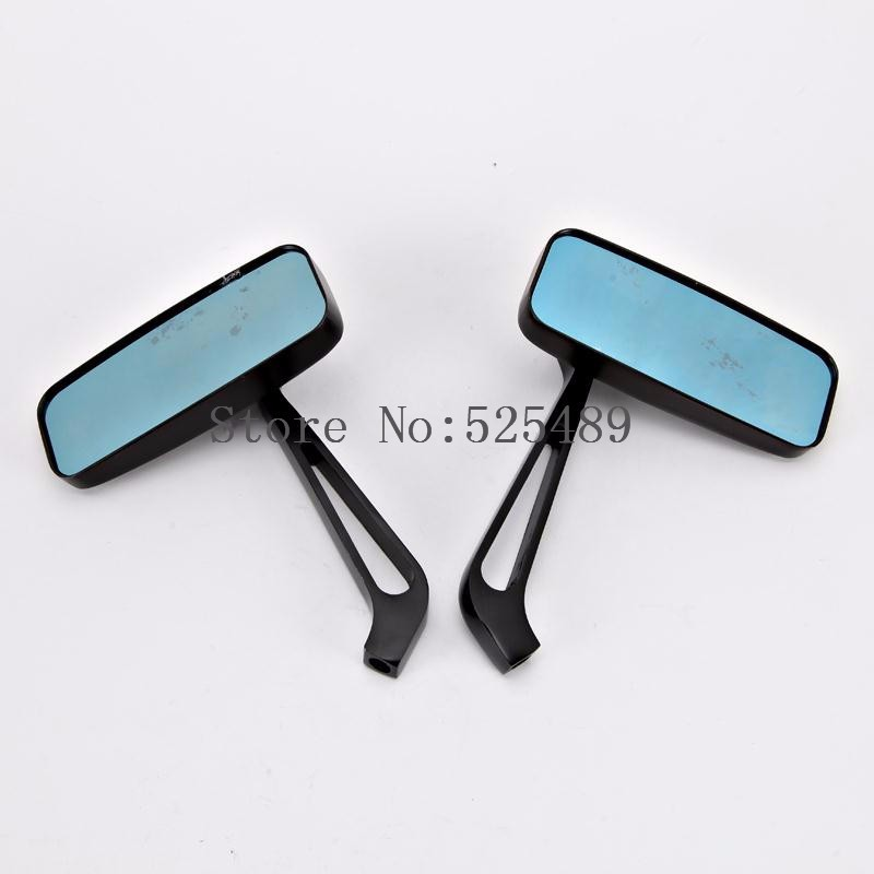 Black 2x Universal Motorcycle Rearview Side Mirrors Side Mirrors 8mm 10mm Motorbike Motocross Scooter Bicycle Rear View Mirrors