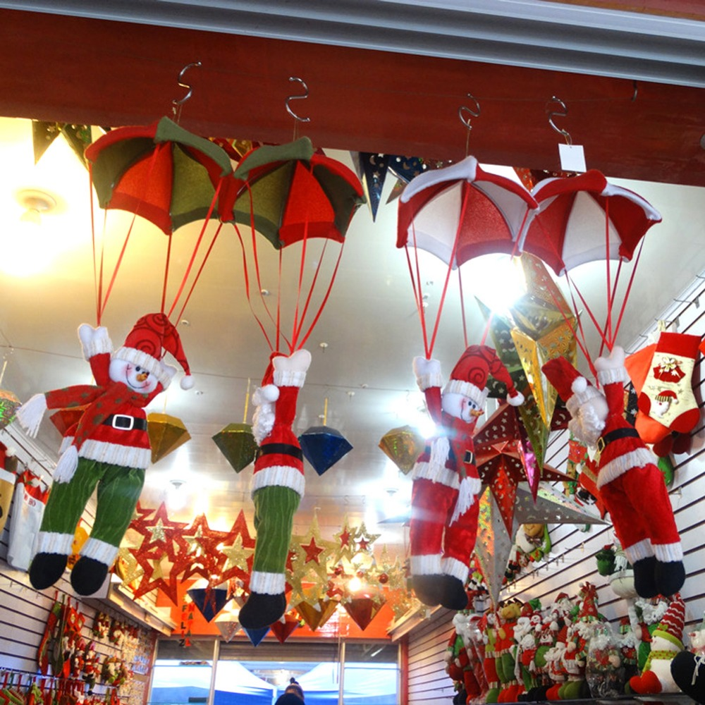 Holiday decoration christmas gifts on aliexpress com alibaba group - 24cm Christmas Home Ceiling Decorations Parachute Santa