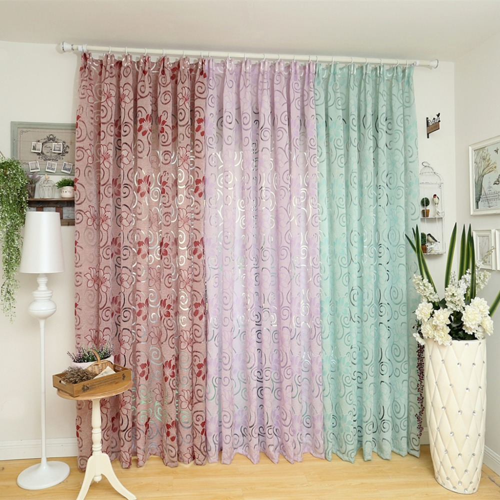 European Curtain Kitchen Multicolored Elegant Curtains For Living Room Curtain Fabrics Floral