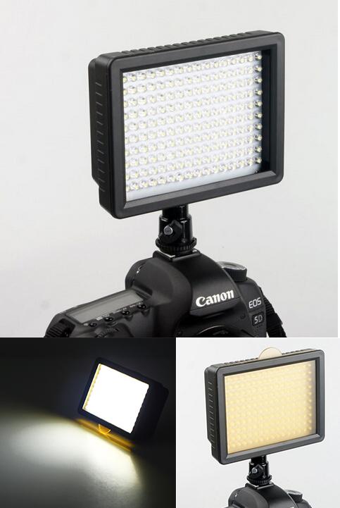 Гаджет  1 pcs New Light Lamp DV WanSen W160 LED Video Camera  For CANON for NIKON JVC 7.5V 12W   Brand New None Бытовая электроника
