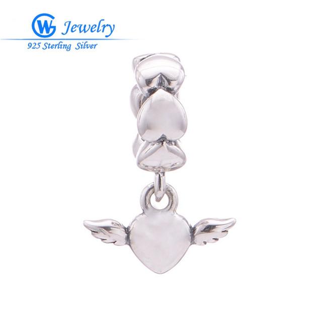 Стерлингового серебра 925 angel подвески для изготовления ювелирных изделий брелоки ...