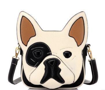 Fashion cool dog shape shoulder bag animal pattern slanting cross bag unisex handbags men s bags