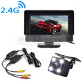 DIYKIT 4 3 Inch Video Car Monitor HD LED Car Camera Rear View Security System Wireless