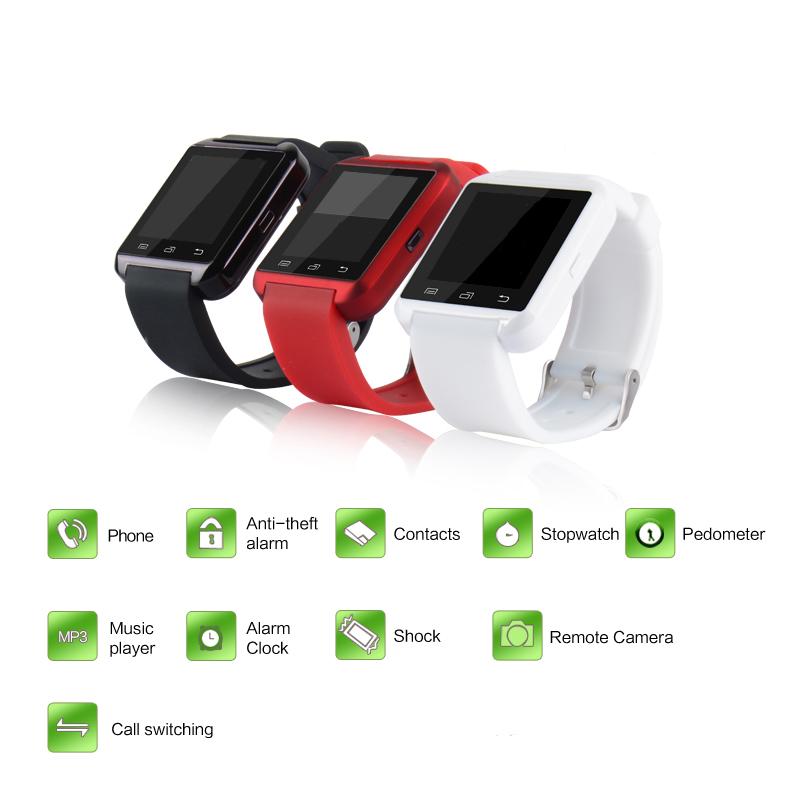2016 Bluetooth Sport <font><b>Smart</b></font> <font><b>Watch</b></font> MTK WristWatch Health U8 for Samsung S3 S4 S6 edge Note 3 4 5 for HTC <font><b>LG</b></font> G2 G3 G4 Android Phone