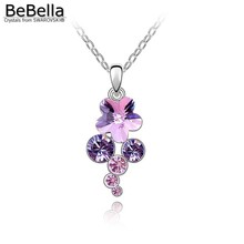 4 colors available crystal pendant rhinestone necklace made with SWAROVSKI ELEMENTS for Mother's Day gift(China (Mainland))