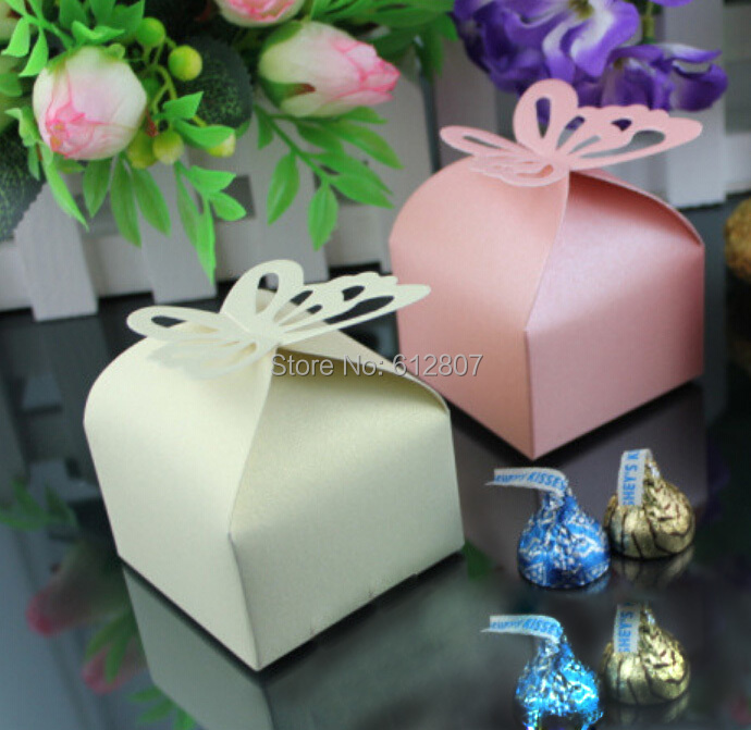 50Pcs Folding DIY Butterfly wedding candy box wedding favors and gifts Boxes for Wedding Decoration Ideas regalos de boda(China (Mainland))