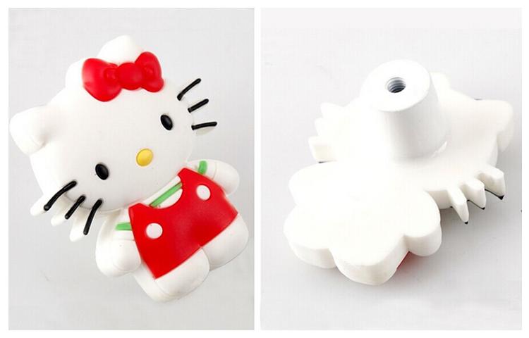 Childern Room Cartoon Cute kitty cat  furniture wardrobe handles soft plastic Children bedroom Dresser Drawer Decorative Pulls