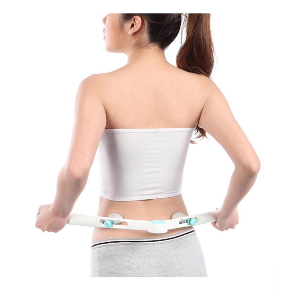2016 HOT NEW Adjustable Lumbar Massage Device Back Waist Spine Massager Beauty Slimmer Body Stick Tool Health Care cheap