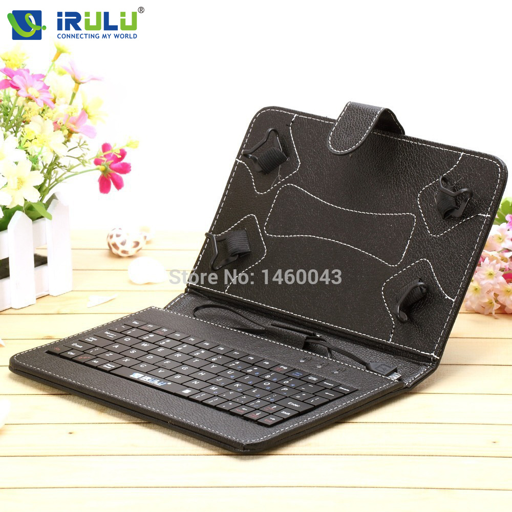 """2016 New Arrival iRULU 7"""" Tablet PC Case High end Best quality Best Folding Folio Keyboard Leather Case PU Leather Cover(China (Mainland))"""