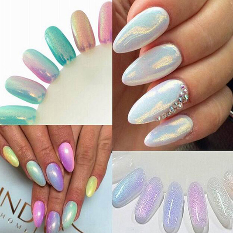 2016 Trend HOT Mermaid Effect Nail Glitter Nail Art Tip Decoration Magic Glimmer Powder Dust(China (Mainland))