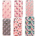 Charming Featured Coconut Flower Elegant Leather Pattern Phone Case for Apple iPhone 5 5s SE 6 6s Plus Plastic PC Silicon Covers