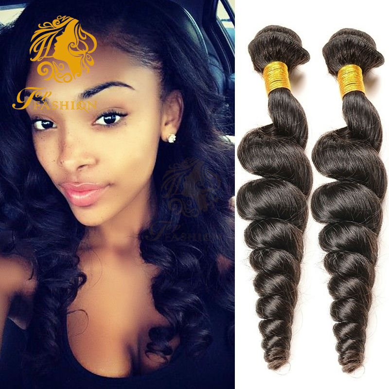 Peruvian Loose Wave Virgin Hair 4 Bundle Deals Human Hair Weave 7A Unprocessed Peruvian Virgin Hair Loose Wave 6