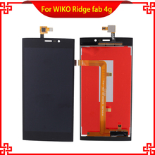 10pc/lot New Brand LCD Display Touch Panel For WIKO Ridge Fab 4G Touch Screen Black Color Mobile Phone LCDs Free Shipping