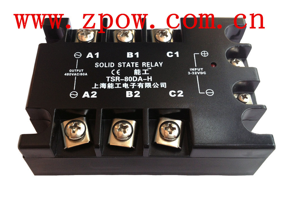 Neng Gong Three phase Solid state relay TSR-80DA-H 80A SSR - Suzhou German League Control Technology Co., Ltd. store
