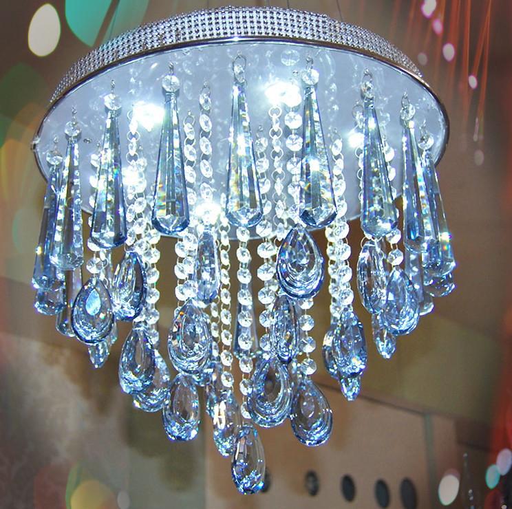 Modern LED crystal pendant light dining-room lamp bedroom light bar light the lamp messenger wire lamp art lighting<br><br>Aliexpress