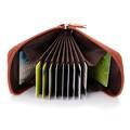 Brand high quality genuine Leather business card holder card coin bag multi color 12 cardholder men