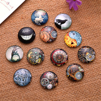 20pcs Multi Size Hot Round Pattern Glass Cabochon DIY Handmade Totoro Picture Cabochons Jewelry Accessories