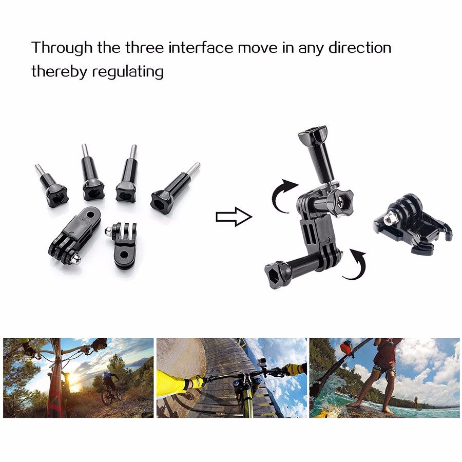 Free Shipping Gopro hero3 Accessories kit for gopro hero 4 3 3+ 2 SJCAM SJ4000 SJ5000 xiaomi yi accessories sjcam Accessories