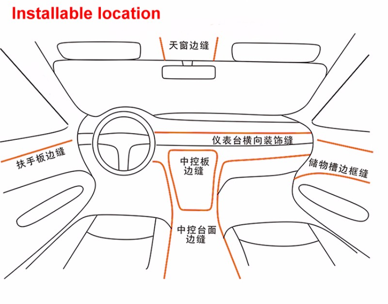 for toyota venza 2008 2015 car interior ambient light panel illumination for car inside cool. Black Bedroom Furniture Sets. Home Design Ideas